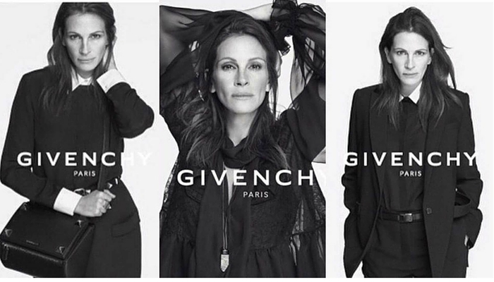 Julia Roberts (1967) para Givenchy, 2014. Foto: Riccardo Tisci