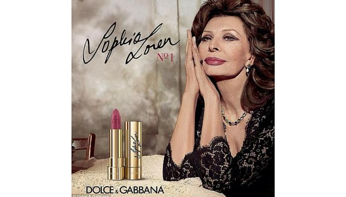 Sophia Loren (1934) para Dolce & Gabbana, 2016