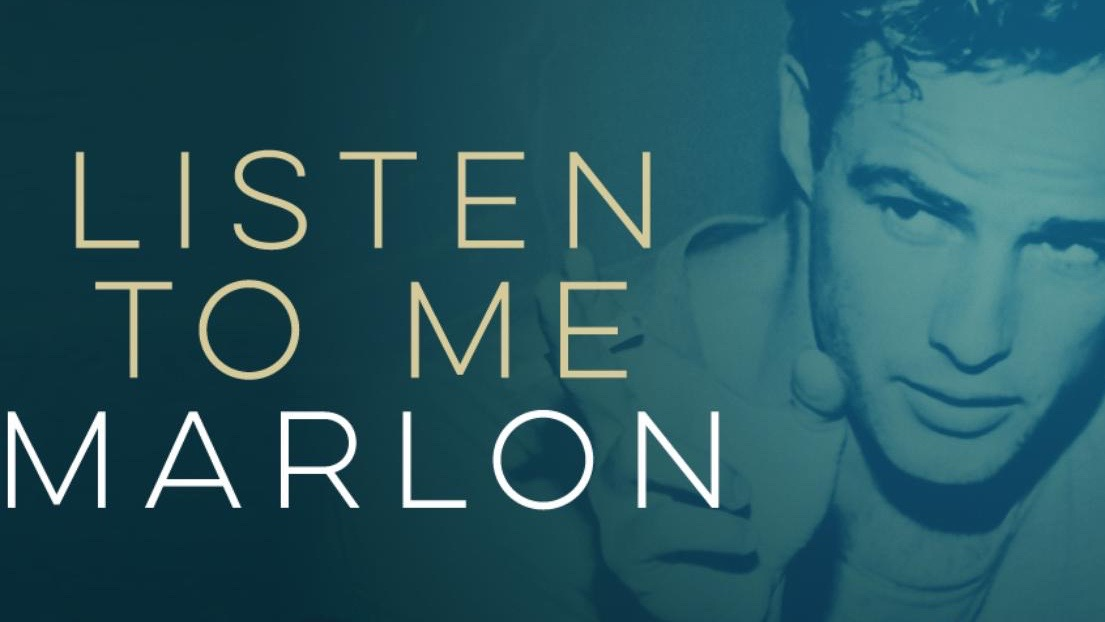Cartel del documental Listen To Me Marlon, dirigido por Stevan Riley, 2015