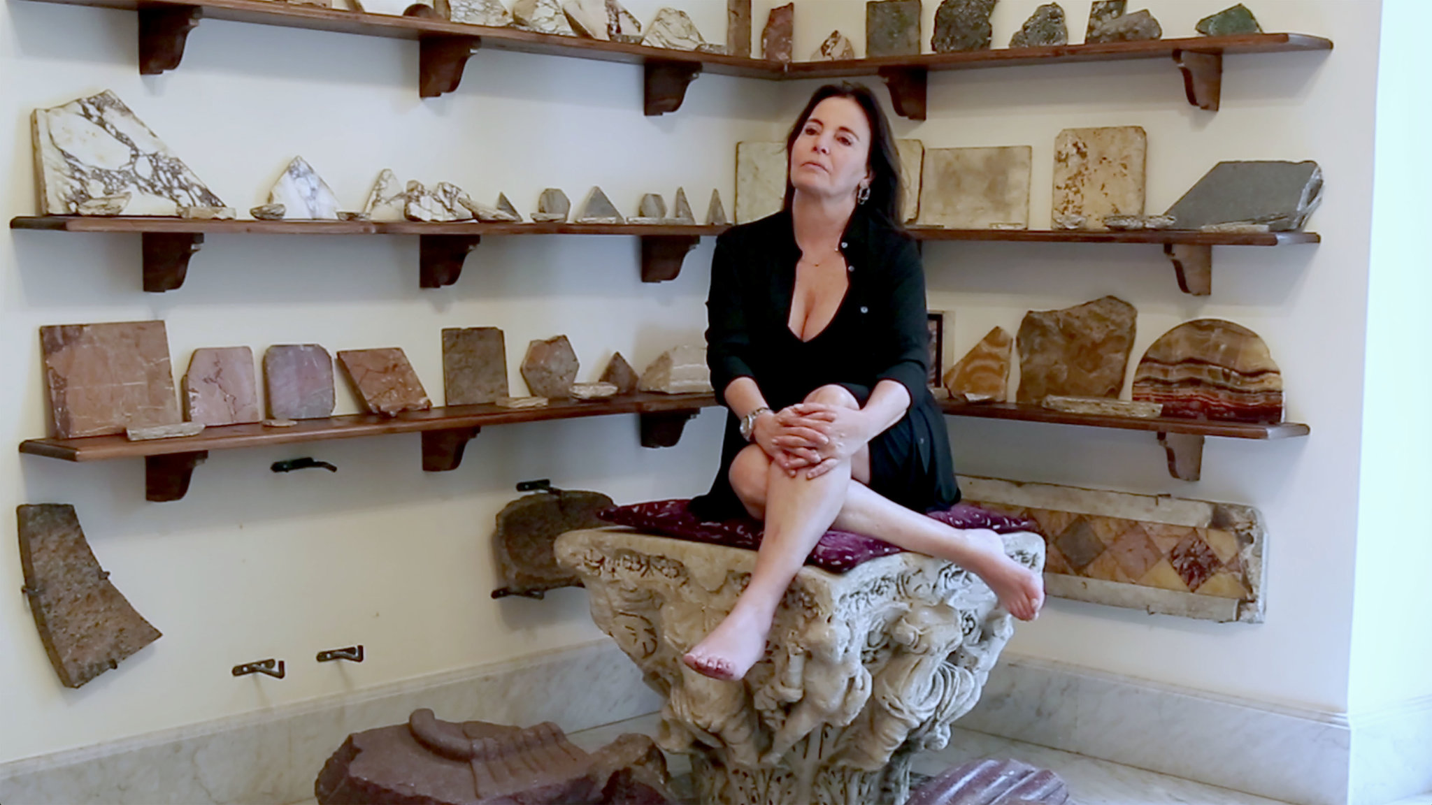 Paola Santerelli en su casa de romana para la T magazine del New York Times