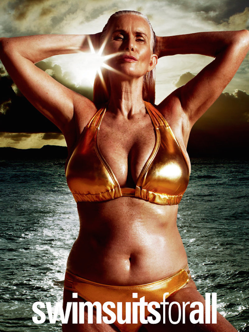La modelo de 57 años Nicola Griffin, fotografiada por Russell James para una campaña de Swimsuits For All