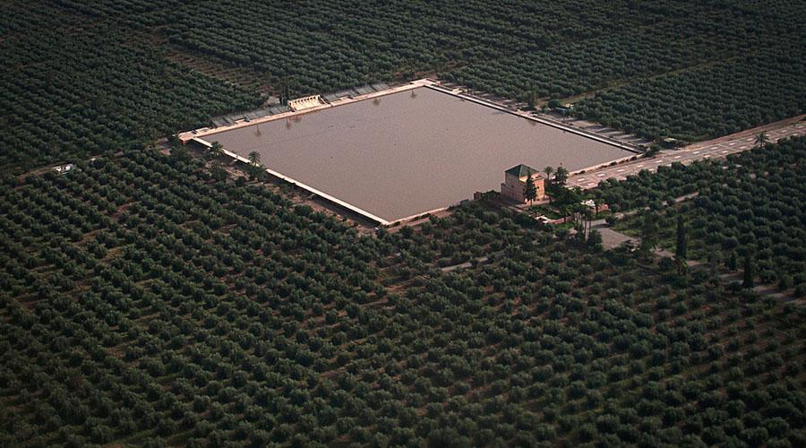 Jardín de la Menara en Marrakech, Marruecos. Foto: cortesía del Jardin de la Menara