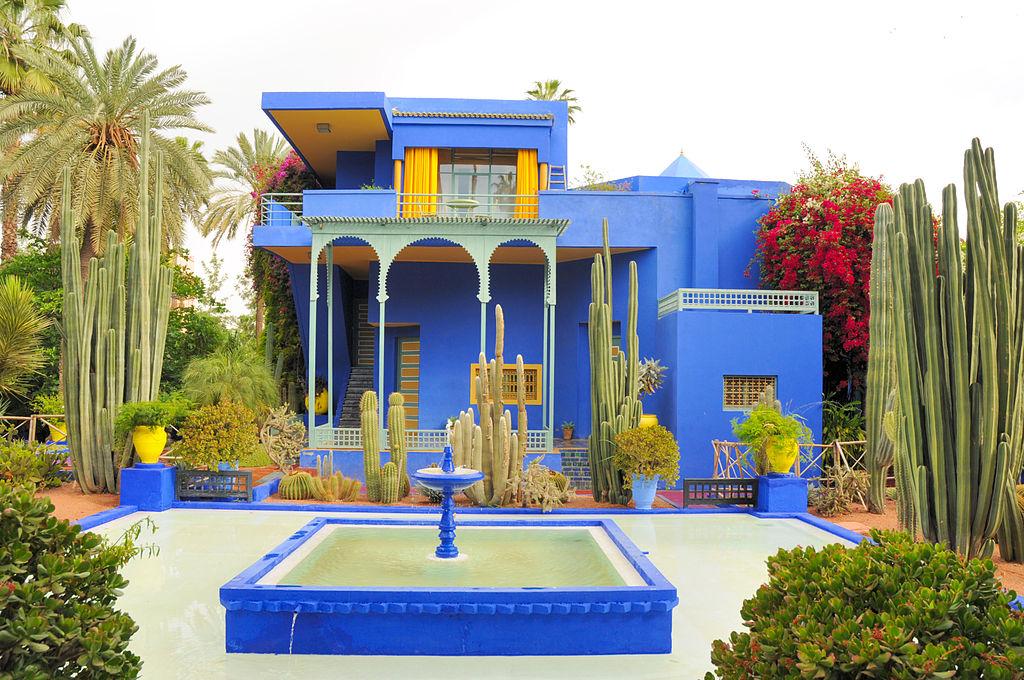 Jardín Majorelle en Marrakech, Marruecos. Foto: Viault