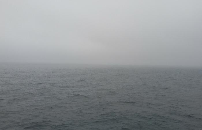 Mar del Norte en un día gris