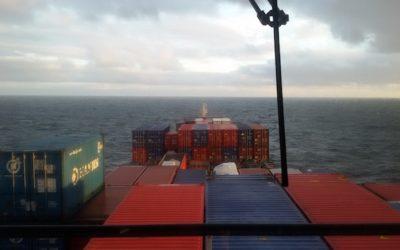 De turismo en un buque carguero