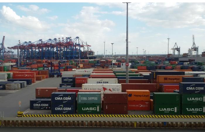 puerto de Hamburgo, recién llegadas