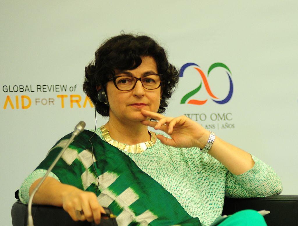 Arancha González en el Fifth Global Review of Aid for Trade, 2015. Foto: del World Trade Orgazination