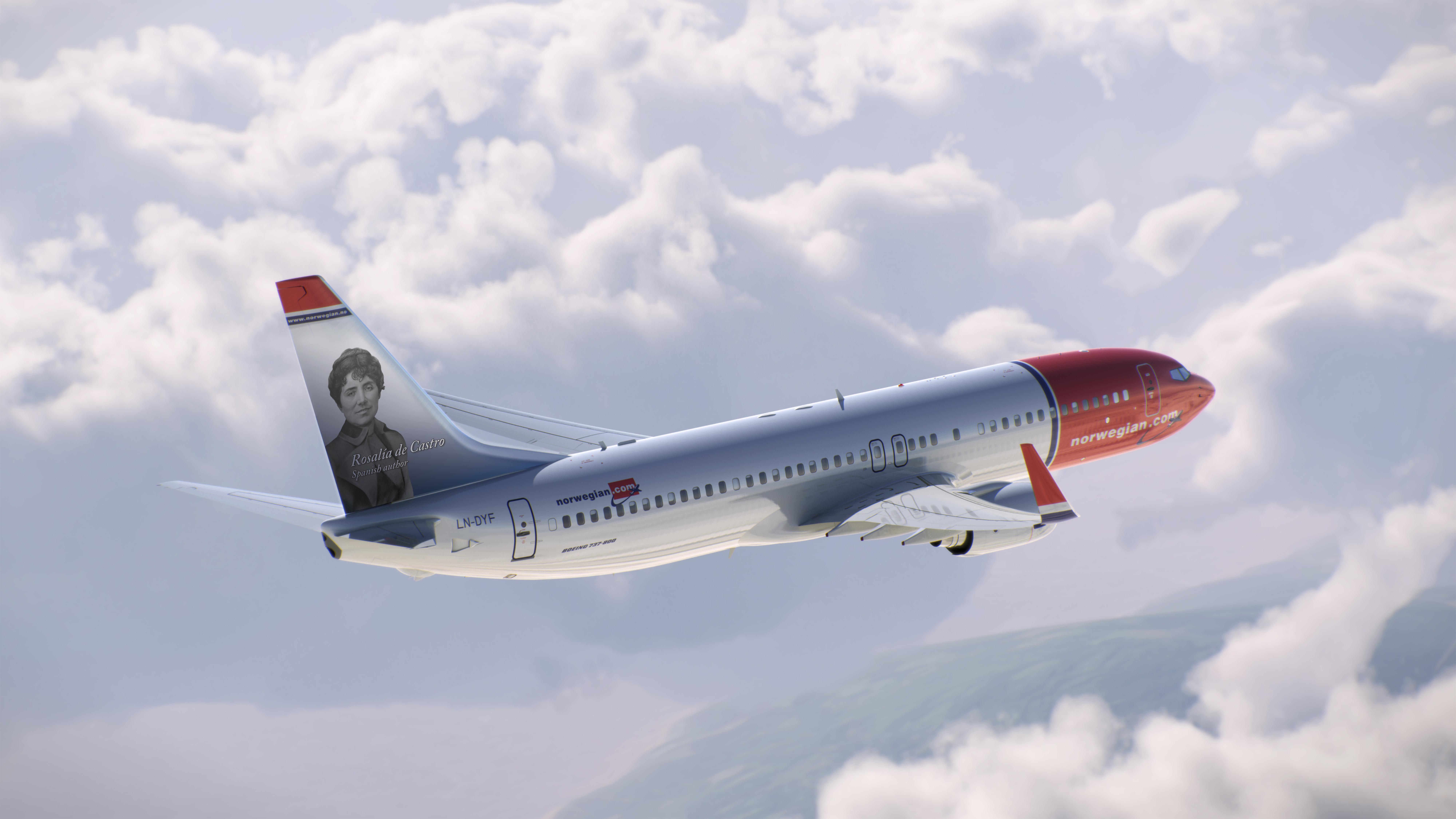 Avión de Norwegian Airlines nombrado en honor a Rosalía de Castro