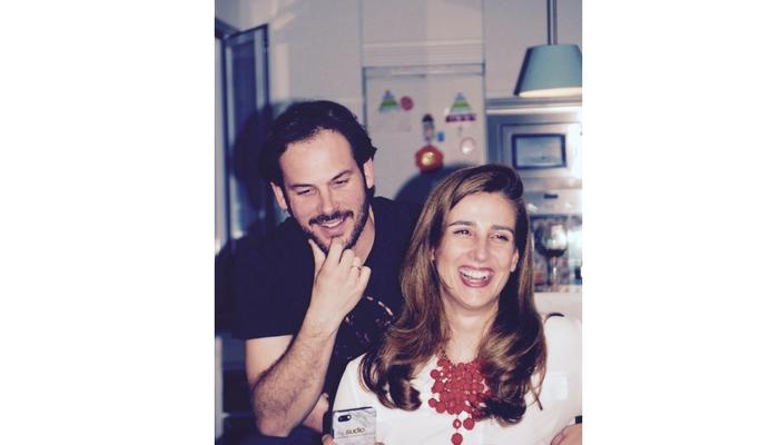 Silvia Moreno con su pareja y compañero de batalla