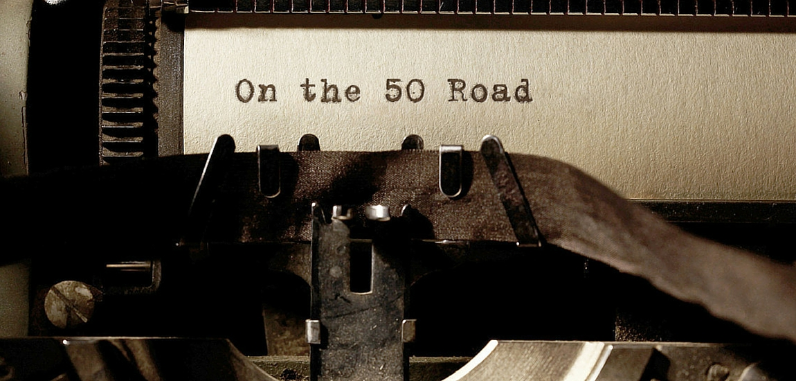 writing on the 50 road
