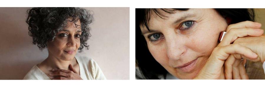 Arundhati Roy. Foto: © Mayank Austen Soofi y Chantal Maillard. Foto: Asociación Andaluza de Escritores y Críticos Literarios
