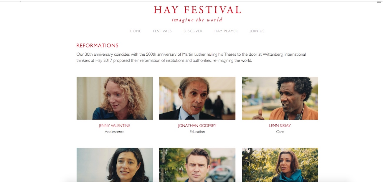 HAY FESTIVAL 2017, Imagine the World
