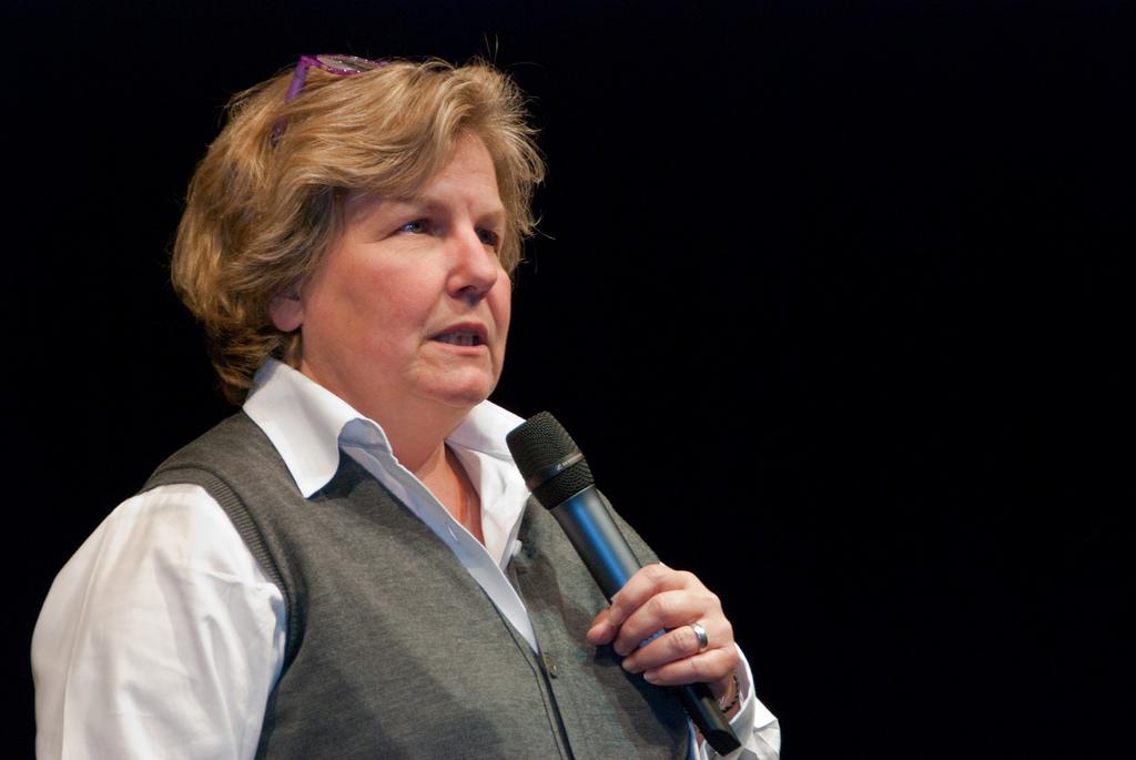Sandi Toksvig en la Universidad de Bedfordshire, Reino Unido. Foto: Stan_was