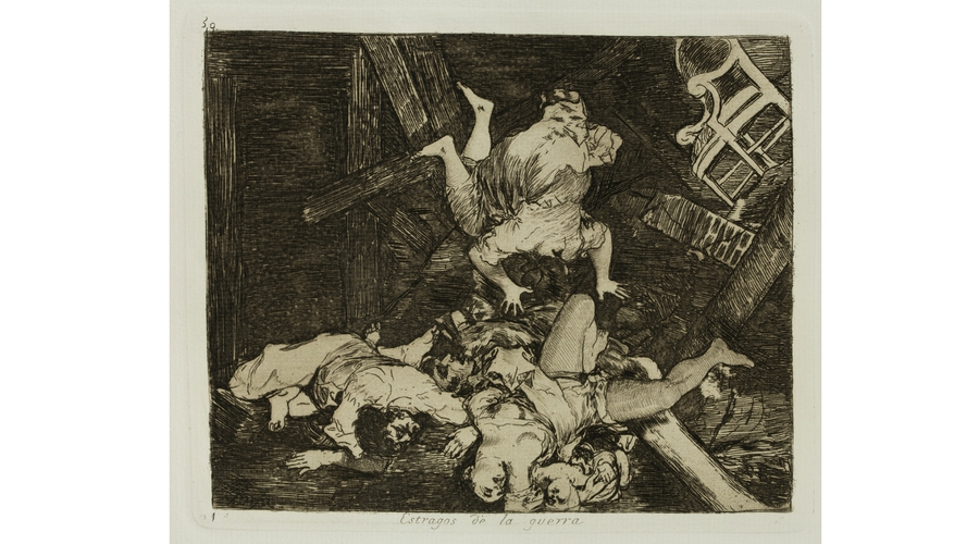 Francisco de Goya y Lucientes, Estragos de la guerra. (Desastres de la Guerra, 30). 1810-1814. Edición de1906. Museo de Zaragoza