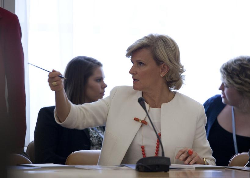 María Neira en la Asamblea de la OMS, 2012. Foto: Eric Bridiers