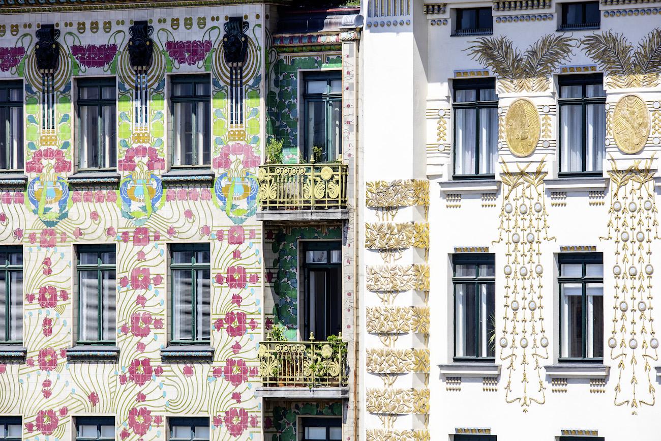 Vienna 2018 Wienzeile Jugendstil Fassade © WienTourismus-Christian Stemper