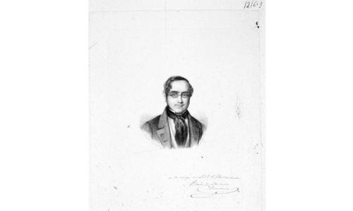 Una de sus obras más alabadas: Retrato de Ramón de Mesonero Romanos-Pedro Hortigosa, Rosario Weiss. BNE.