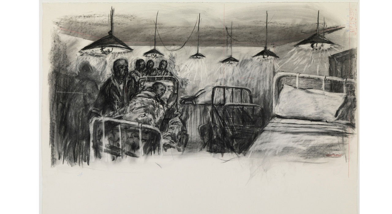 Dibujo tide table hostel de William Kentridge, 2004 - gasull