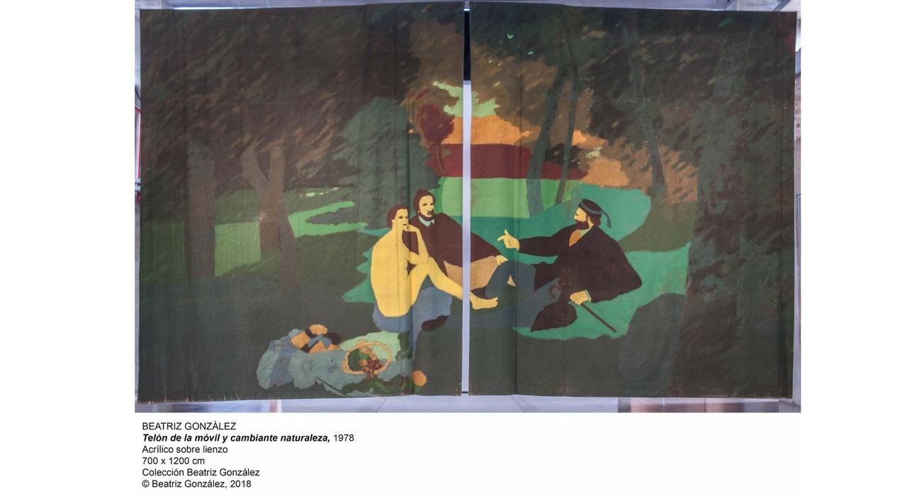 Monografía sobre la obra de Beatriz González en el Palacio de Velázquez del parque de El Retiro, 2018