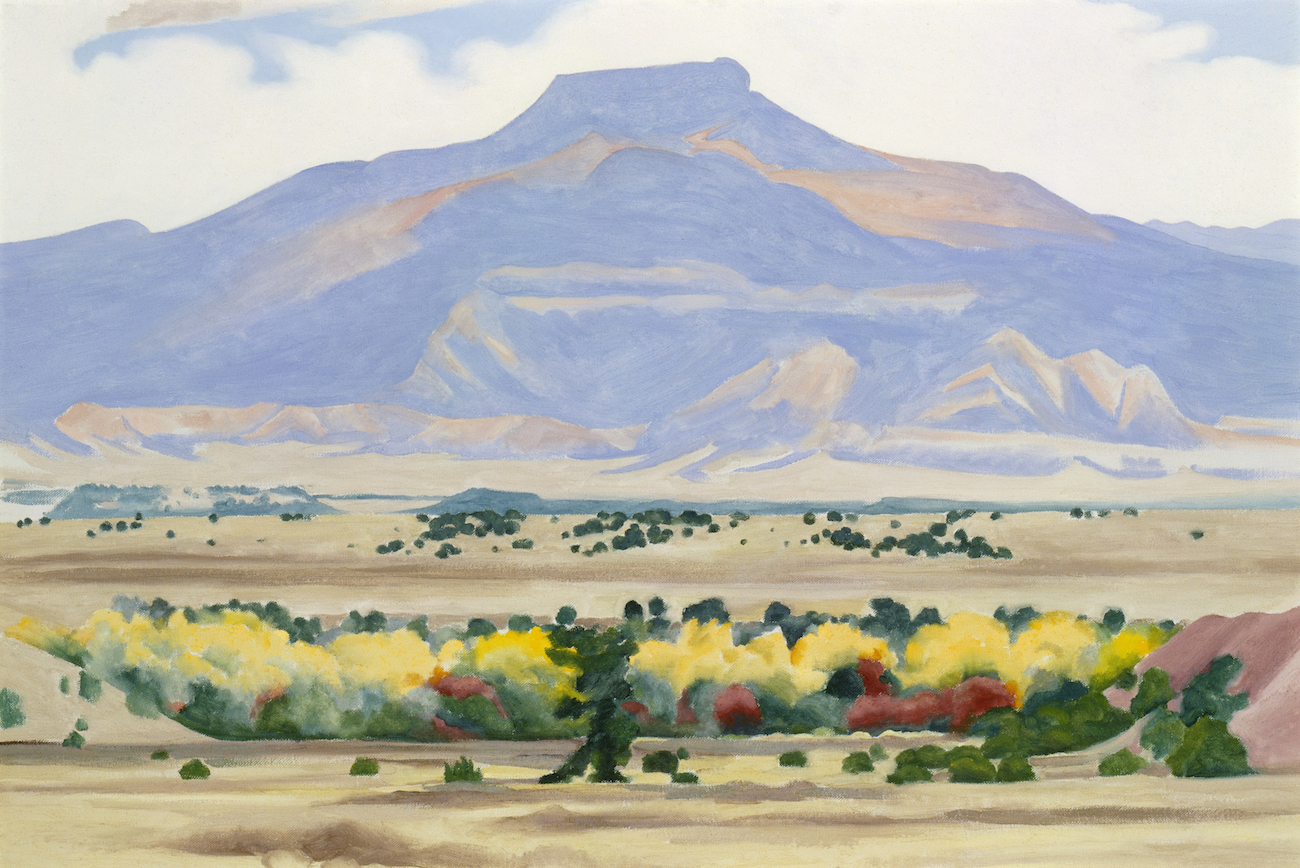 Georgia O'Keeffe, Pedernal, 1941/1942. Oil on canvas. 20 1/8 x 30 ¼. Georgia O'Keeffe Museum. Gift of The Burnett Foundation and The Georgia O'Keeffe Foundation. © Georgia O'Keeffe Museum. [1997.05.012]