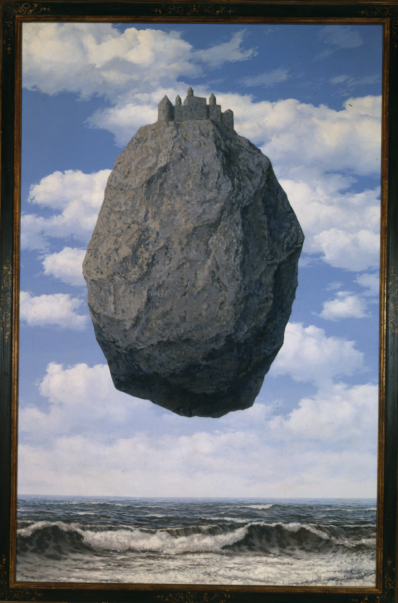 René Magritte, The Castle of the Pyrenees (1959) Oleo sobre lienzo. The Israel Museum, Jerusalem Gift of Harry Torczyner, New York