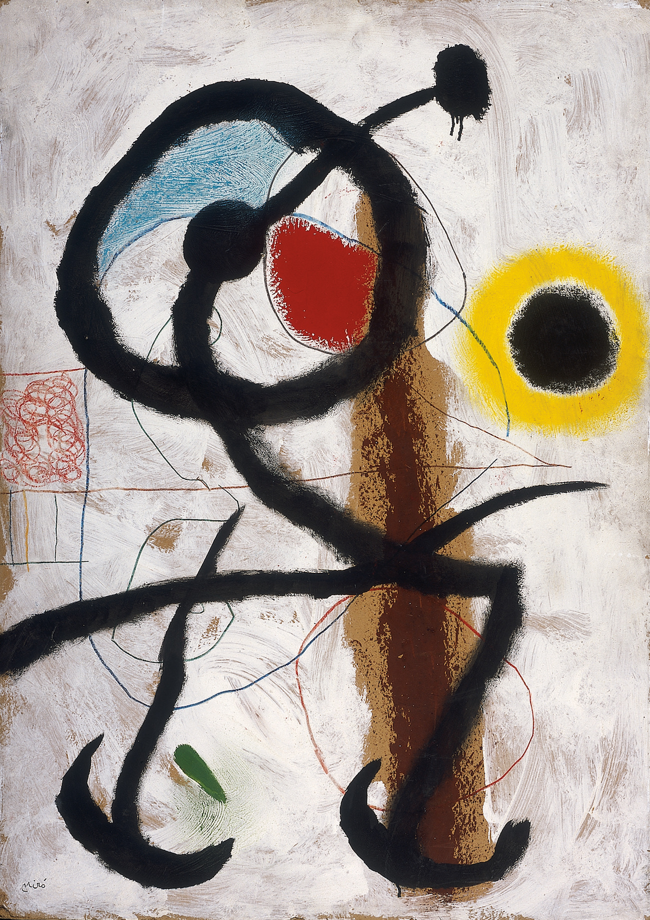 Joan Miró, Pájaro (1960) Oleo sobre cartulina. The Israel Museum, Jerusalem On permanent loan from the Dr. Georg and Josi Guggenheim Foundation, through the Swiss Friends of the Israel Museum