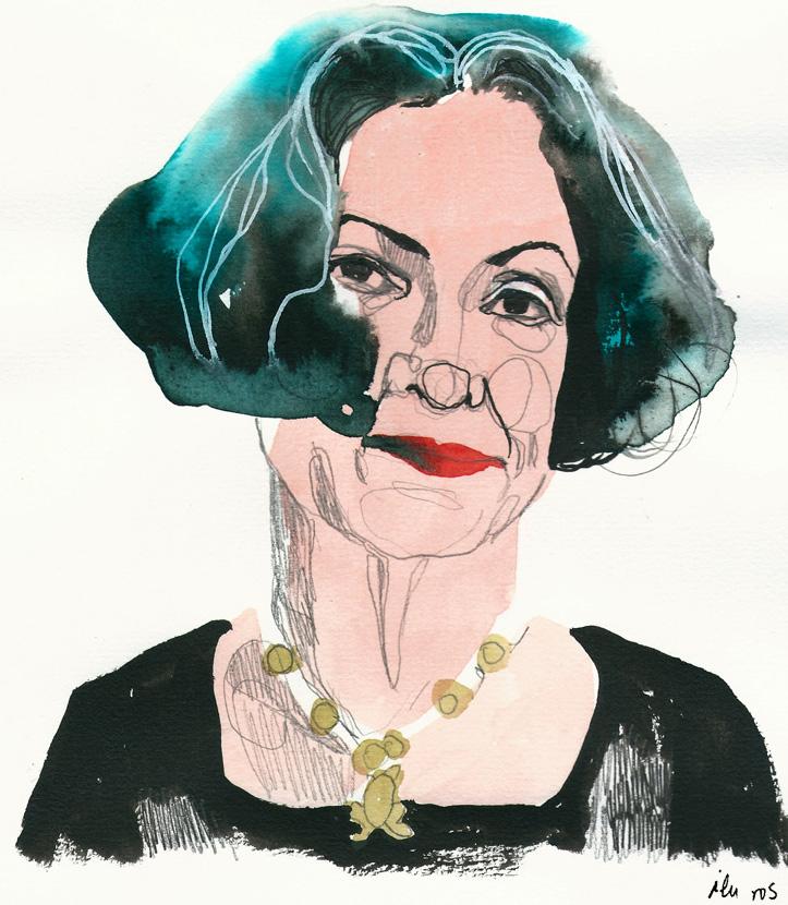 Alma Guillermoprieto. Ilustración de © Ilu Ros, 2018