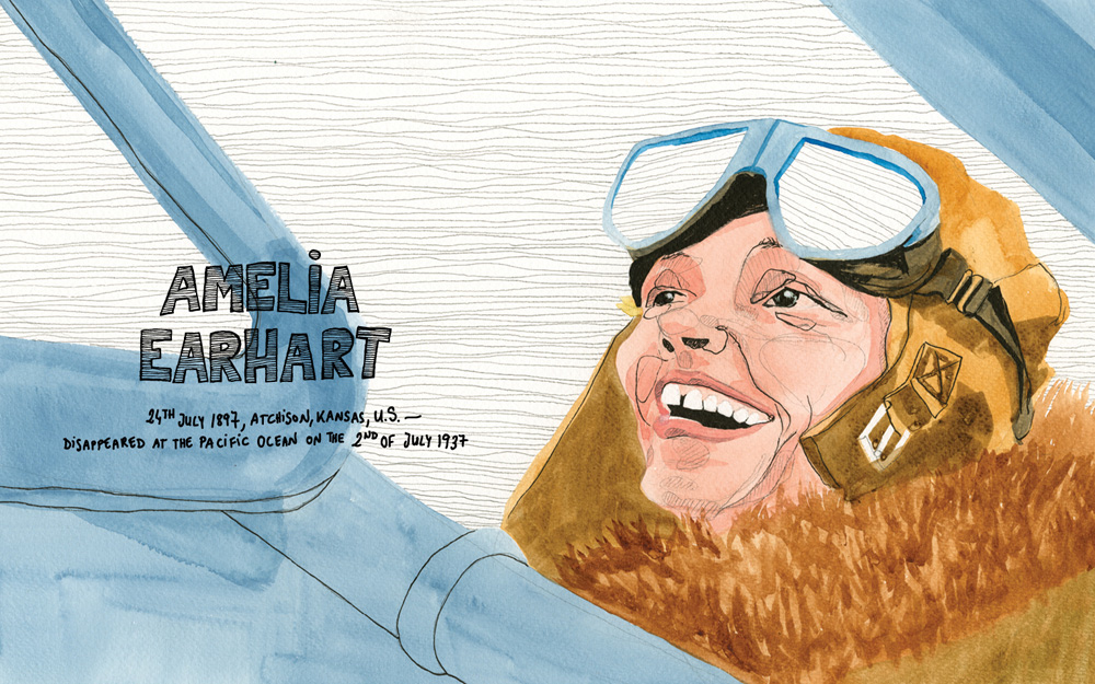 HEY SKY I'M ON MY WAY amelia earhart by ILU ROS