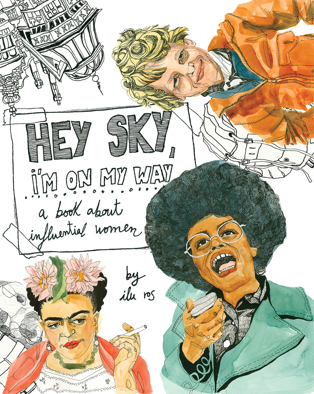 HEY SKY I'M ON MY WAY by ILU ROS portada