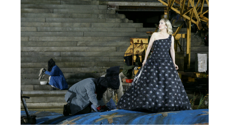 Interpretando a Amneris en Aida en el Festival de Bregenz (Austria). Foto: ©Bregenz Festival
