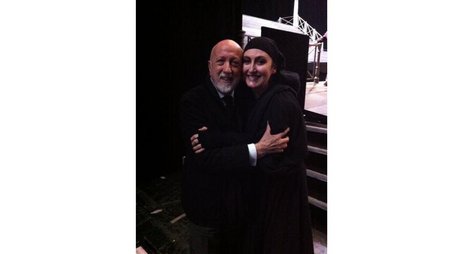 Junto a Pier Luigi Pizzi en la Opéra de Paris