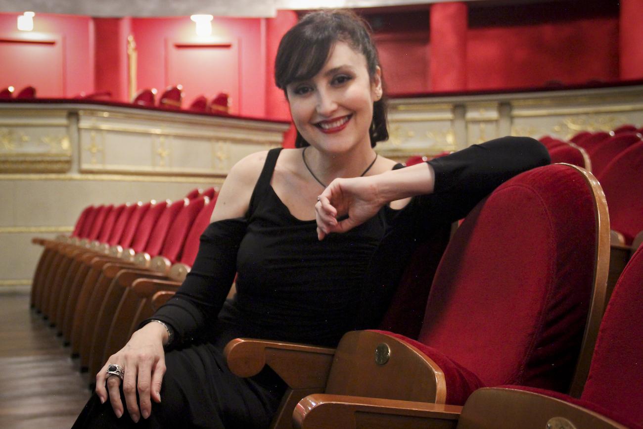 María José Montiel en el Teatro Real para On the 50 Road. Foto: Carlos Cáceres