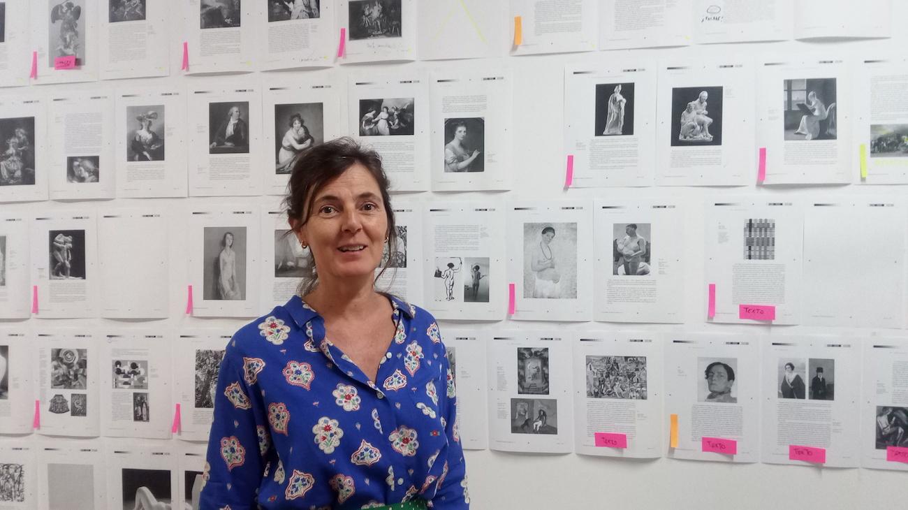 María Gimeno en su taller