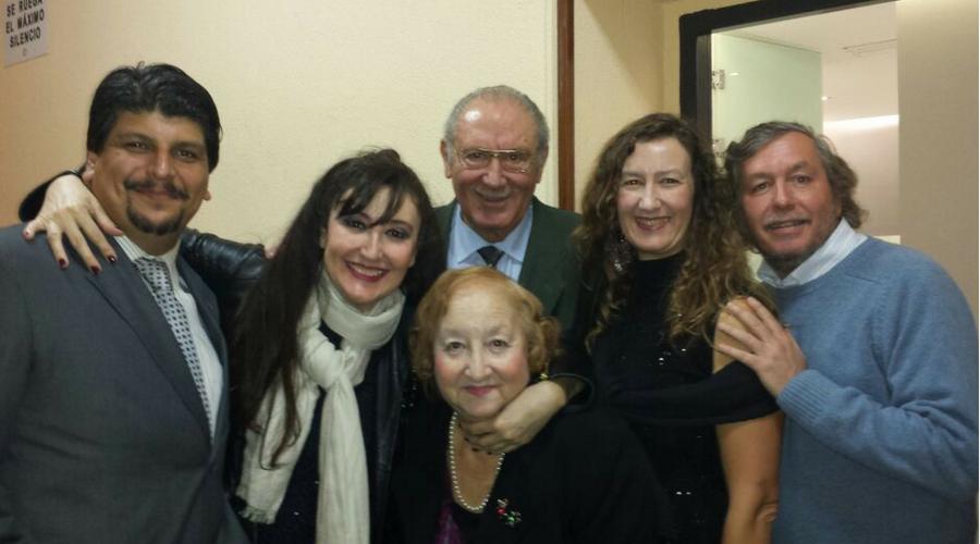 María José junto a su familia y marido Camilo Souto, sus grandes pilares