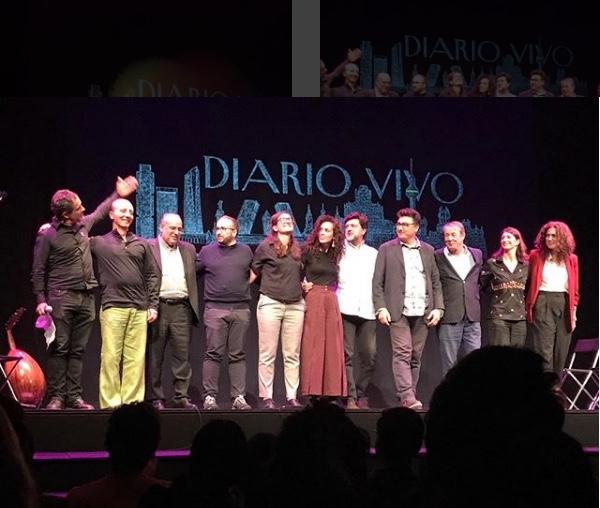 Participantes en la representación de Diario Vivo, octubre 2018