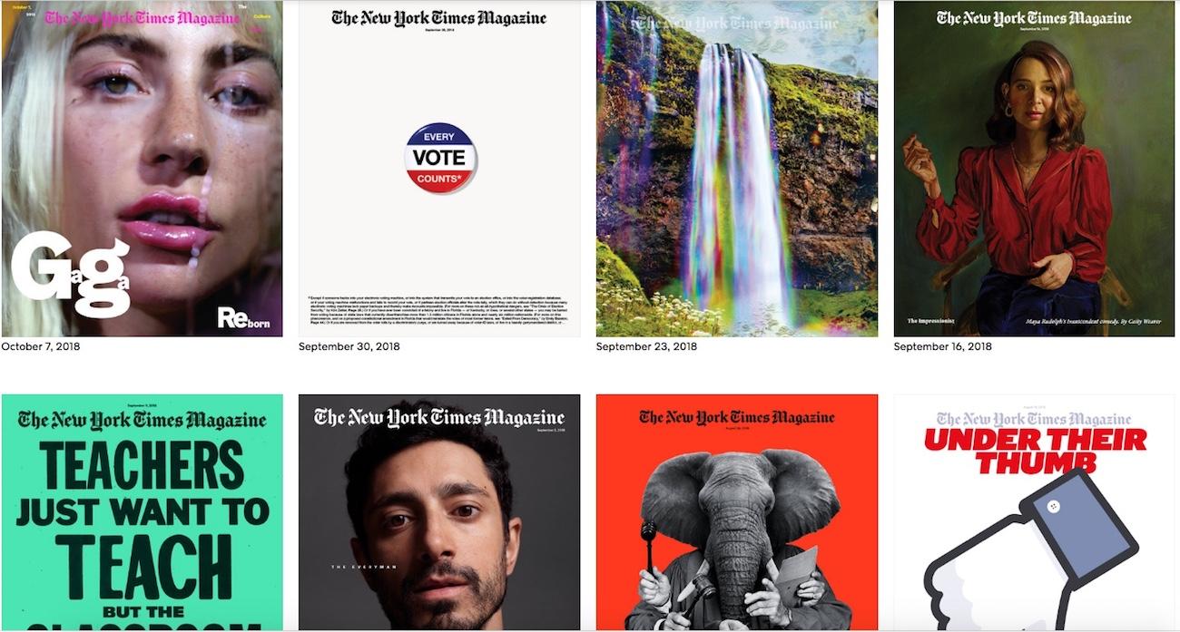 Portadas de The New York Times Magazine