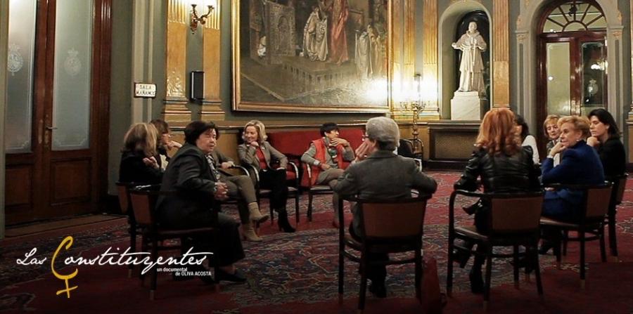 Rodaje del documental Las Constituyentes, dirigido por Olivia Acosta, 2011