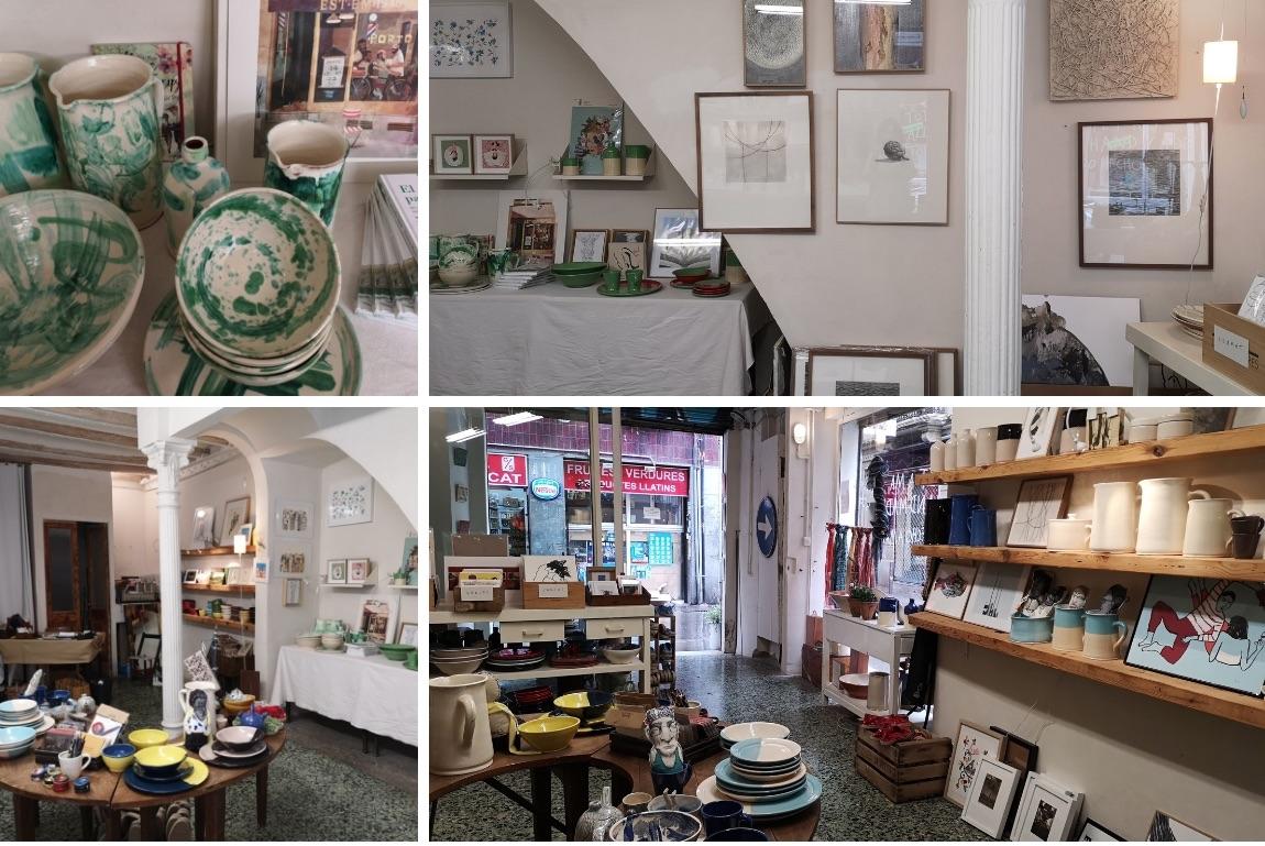 La tienda con productos artesanales locales y de más allá. También es el despacho de Inés. Allí va maquinando nuevas ideas.