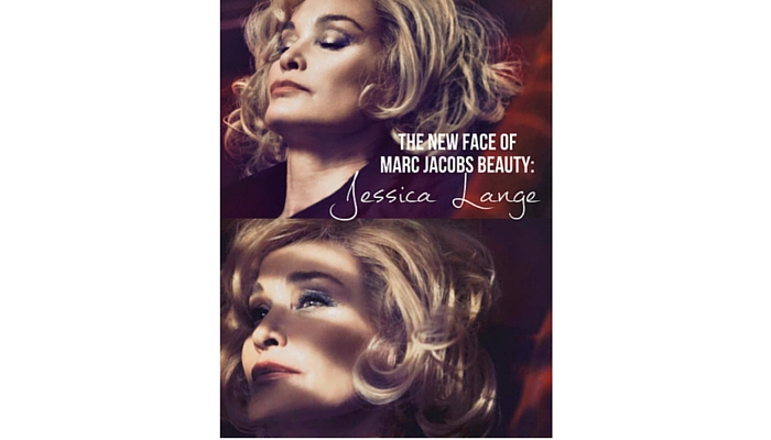 Jessica Lange (1949)  para Marc Jacobs Beauty, 2014. Foto: David Sims