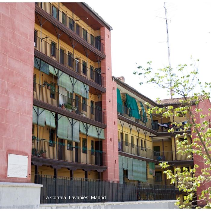 """""""La Corrala"""", edificio emblemático de Lavapiés, Madrid"""