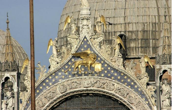 León de la Basilica de San Marcos en Venecia. Foto Nino Barbieri