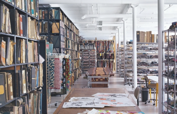 "espacio del archivo de Nueva York, publicado en ""Patterns: Inside the Design Library"", por Peter Koepke. Editorial Phaidon, 2016"