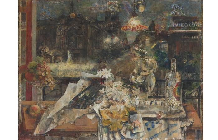 Mesa en Nochebuena de Antonio López, 1956