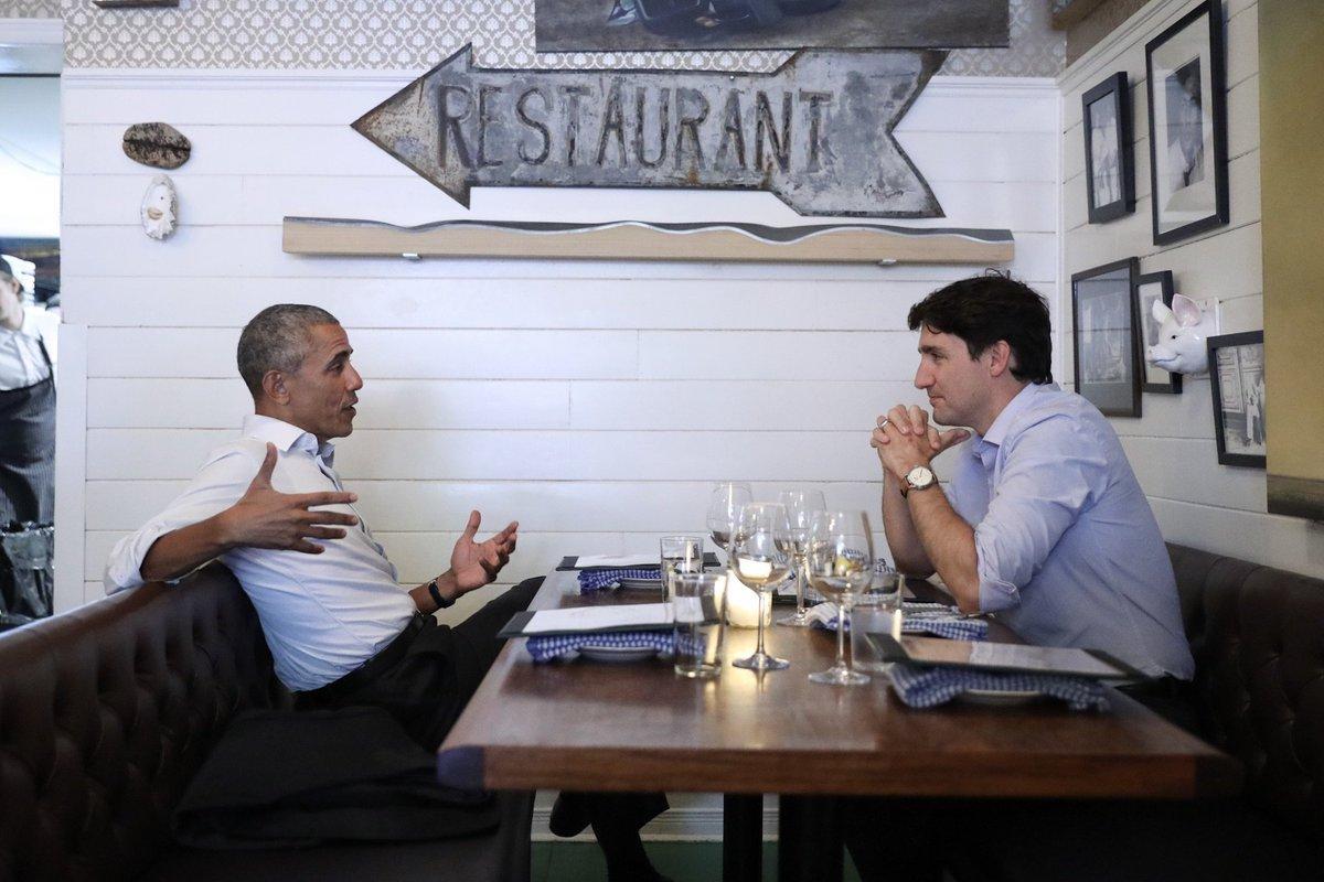 Noticia publicada en Teen Vogue sobre el encuentro entre Justin Trudeau y Barak Obama en Montreal, junio 2017. Foto: @JustinTrudeau