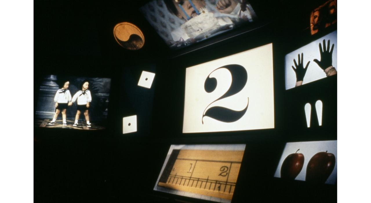 Instalación de la película Think para el IBM Pavilion, New York World's Fair, 1964-65. ©Eames Office LLC
