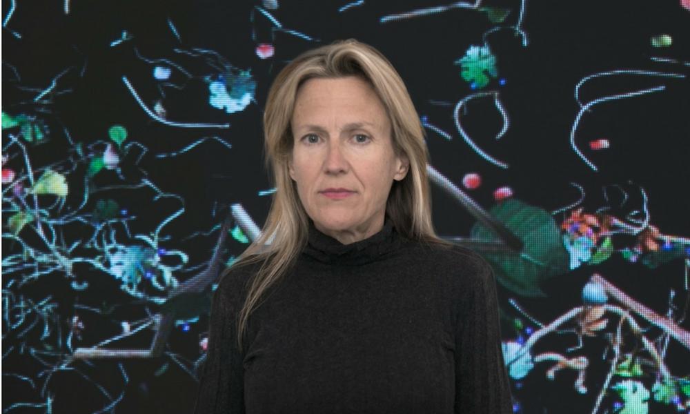retrato de la artista Jennifer Stienkamp para la exposición Espacio Fundación Telefónica