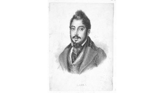 Retrato de Mariano José de Larra y Sánchez de Castro. BNE.