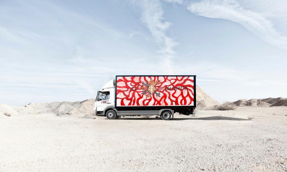 obra de Marina Vargas para Truck Art Project