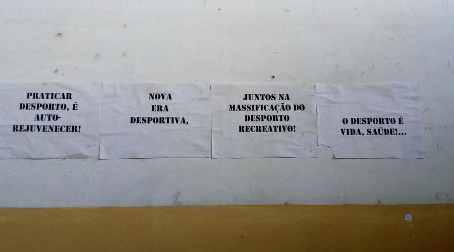mensajes que van calando en el centro social de Vilanculos