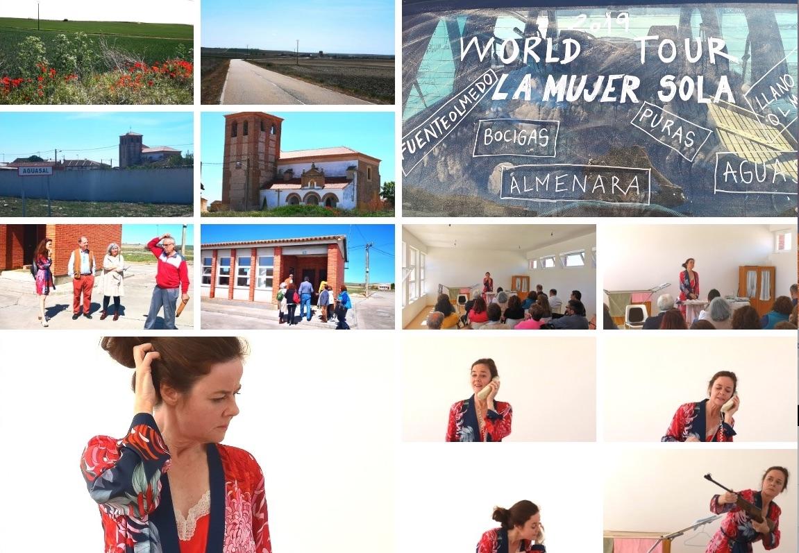 """World Tour """"La Mujer Sola"""" por los pueblos de la comarca de Olmedo. Patricia Jacas interpreta un monólogo de la obra de Dario Fo"""